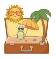 cute animal enjoying summer vacations vector image