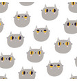 cute british shorthair cat head seamless pattern vector image