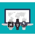 Device and icons design vector image vector image