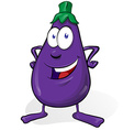eggplant cartoon isolated on white background vector image