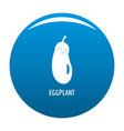 eggplant icon blue vector image vector image