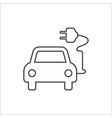 electric auto icon flat design vector image vector image