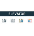elevator icon thin line outline style from vector image vector image