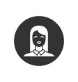 female user avatar related glyph icon vector image