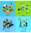 Fitness Aerobic Isometric Icons Set vector image vector image