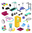 fitness equipment gym club workout training vector image vector image