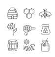 flat honey icons vector image
