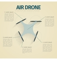 Flat of infographic with quadrocopter vector image