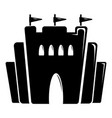 fortress icon simple black style vector image