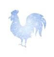 Frozen Silver Rooster Silhouette vector image