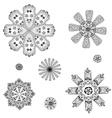 Geometric circular ornament set vector image vector image