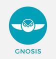 gnosis gno cripto currency logo vector image vector image