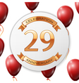 Golden number twenty nine years anniversary vector image vector image
