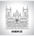 gothic nidaros cathedral icon vector image