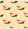 green chili pepper healthy plant seamless pattern vector image vector image