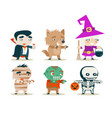 halloween children costume kids masquerade fantasy vector image vector image