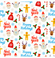 happy new year seamless background vector image