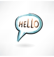 hello in bubble speech vector image vector image