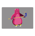 Hockey Penguin Emblem vector image vector image