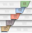 Horizontal paper numbered banners vector image vector image