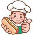 hotdog seller vector image