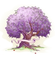 Image of a tree with leaves the tree of wisdom vector image vector image