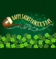 irish holiday saint patricks day banner vector image