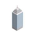 Isometric skyscraper city building