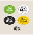 label tea packing stickers tea vector image vector image