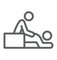 massage line icon spa and leisure therapist sign vector image