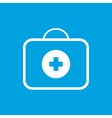 Medic bag white icon vector image vector image