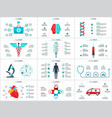 medicine infographic set vector image vector image