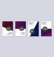 modern brochure design template set violet abstra vector image