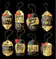 paper price tag retro vintage golden style design vector image vector image