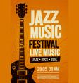 poster design template for rock zazz festival vector image vector image