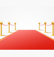 red event carpet on the white background vector image vector image