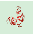 Red rooster vector image vector image