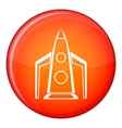 Rocket icon flat style vector image vector image