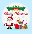santa claus with a bag of gifts icon vector image