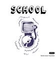 School lesson vector image