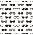 seamless pattern with sunglasses vector image vector image