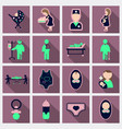set of medical health care icons in flat style vector image vector image