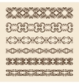 Set of perfect calligraphic brush vector image vector image