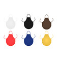 set of round aprons isolated vector image vector image