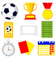 soccer football game cartoon icon 9 element set vector image vector image