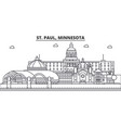 st paul minnesota architecture line skyline vector image vector image