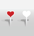 sticker with hearts vector image vector image