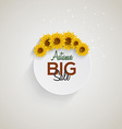 sunflower background sale vector image vector image