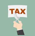tax cut vector image