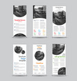templates of white roll-up banners with round and vector image vector image